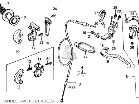 Honda Cr125r 1985 f Usa Handle Switch cables