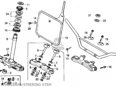 Honda Cr125r 1985 f Usa Handlebar steering Stem