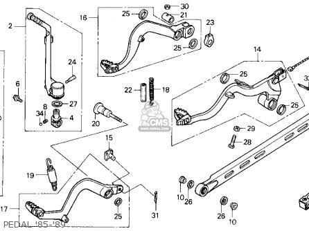 Honda Cr125r 1985 f Usa Pedal 85-89