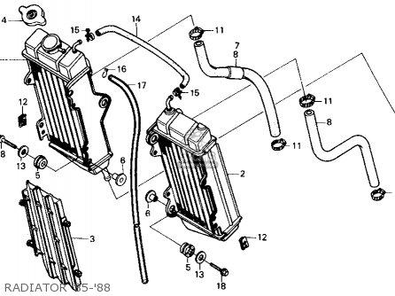 Honda Cr125r 1985 f Usa Radiator 85-88