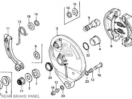 Honda Cr125r 1985 f Usa Rear Brake Panel