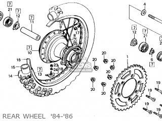 Honda Cr125r 1985 f Usa Rear Wheel  84-86