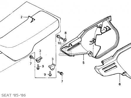 Honda Cr125r 1985 f Usa Seat 85-86
