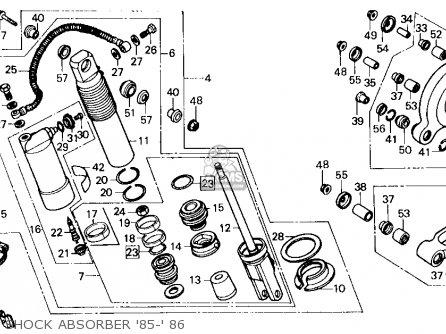 Honda Cr125r 1985 f Usa Shock Absorber 85- 86