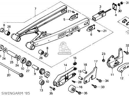 Honda Cr125r 1985 f Usa Swingarm 85