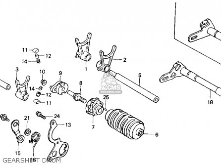 Honda Cr125r 1985 Usa Gearshift Drum