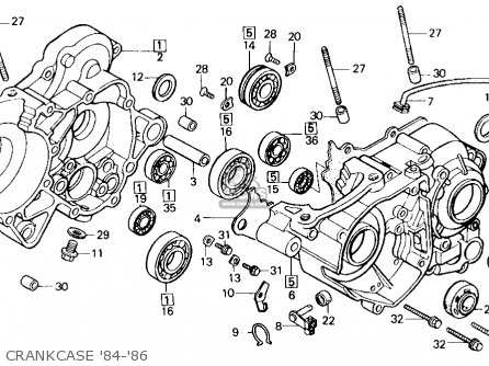 Honda Cr125r 1986 g Usa Crankcase 84-86