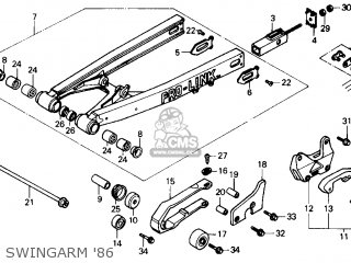 Honda Cr125r 1986 g Usa Swingarm 86