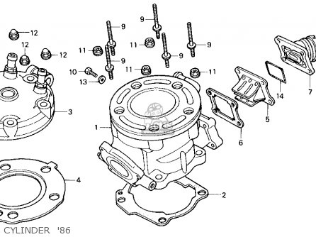 Honda Cr125r 1986 Usa Cylinder  86