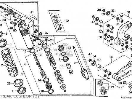Honda Cr125r 1988 J Australia Parts Lists And Schematics