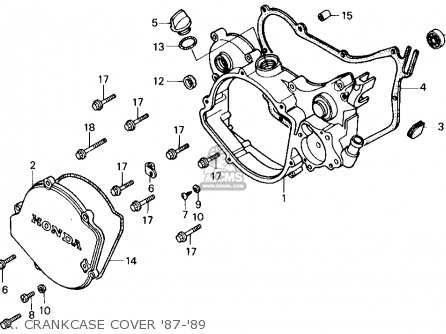 Peachy Honda Cr125R 1995 Usa Crankcase Schematic Partsfiche Basic Wiring Cloud Hisonuggs Outletorg