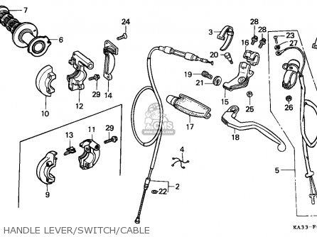 Honda Cr125r 1989 K Australia Parts Lists And Schematics