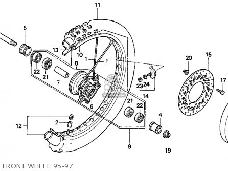 honda cr125r 1995  s  usa parts list partsmanual partsfiche 1980 honda cb750 wiring-diagram