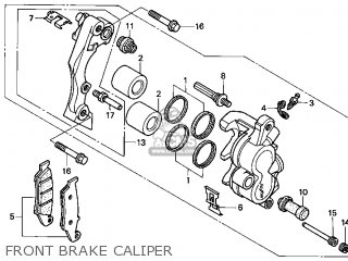 honda cr125r 2000 (y) usa parts list partsmanual partsfiche caliper of 2000 tacoma parts diagram
