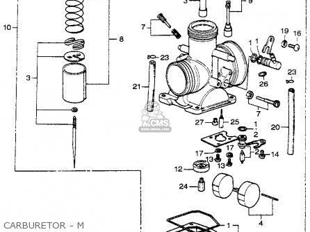 Honda Cr250m Elsinore 1973 Cr250mk0 Usa Carburetor - M