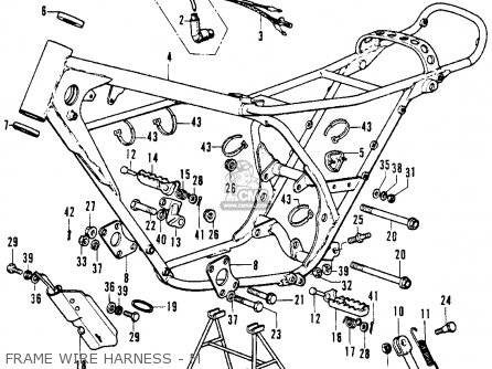 Honda Cr250m Elsinore 1973 Cr250mk0 Usa Frame Wire Harness - M