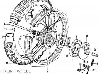 Honda Cr250m Elsinore 1973 Cr250mk0 Usa Front Wheel