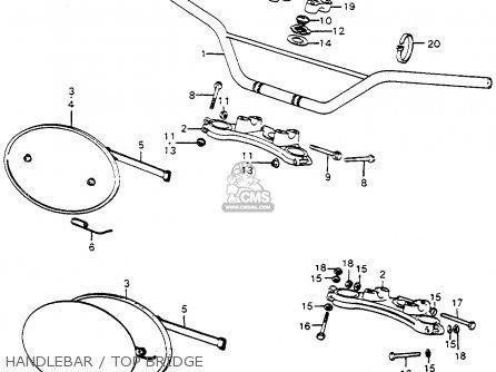 Honda Cr250m Elsinore 1973 Cr250mk0 Usa Handlebar   Top Bridge