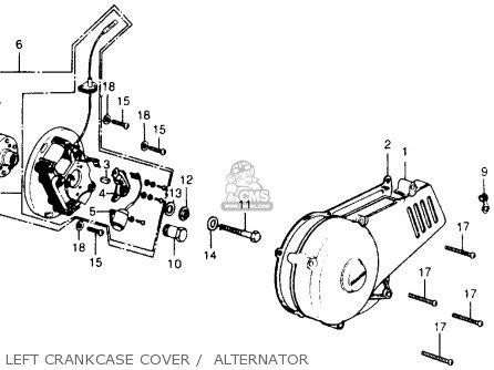 Honda Cr250m Elsinore 1973 Cr250mk0 Usa Left Crankcase Cover    Alternator