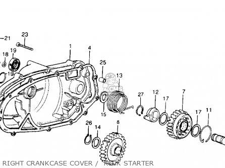 Honda Cr250m Elsinore 1973 Cr250mk0 Usa Right Crankcase Cover    Kick Starter