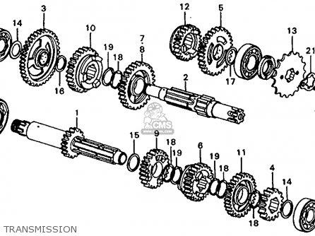 Honda Cr250m Elsinore 1973 Cr250mk0 Usa Transmission
