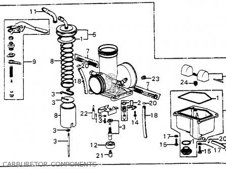 Honda Cr250m Elsinore 1973 K0 Usa Carburetor Components