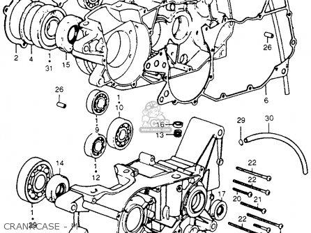 Honda Cr250m Elsinore 1973 K0 Usa Crankcase - M