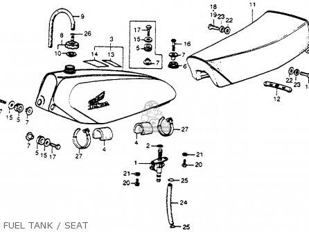 Honda Cr250m Elsinore 1973 K0 Usa Fuel Tank   Seat