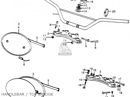 Honda Cr250m Elsinore 1973 K0 Usa Handlebar   Top Bridge