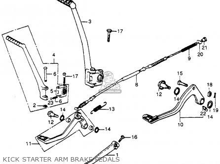 Honda Cr250m Elsinore 1973 K0 Usa Kick Starter Arm Brake Pedals