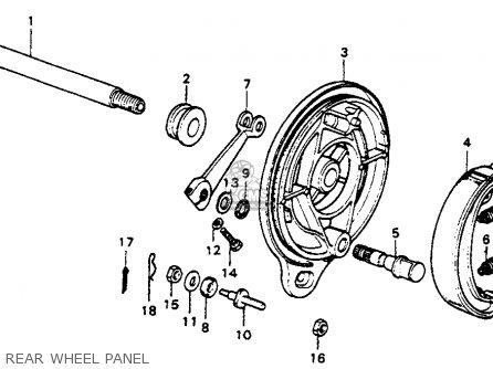 Honda Cr250m Elsinore 1973 K0 Usa Rear Wheel Panel