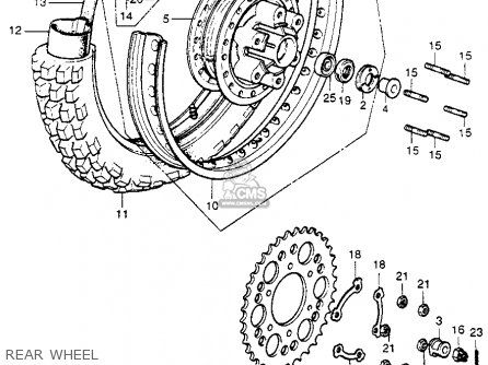Honda Cr250m Elsinore 1973 K0 Usa Rear Wheel