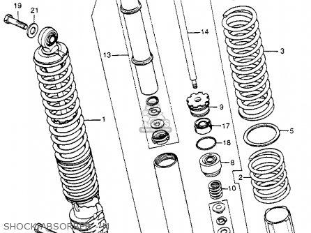 Honda Cr250m Elsinore 1973 K0 Usa Shock Absorber - M