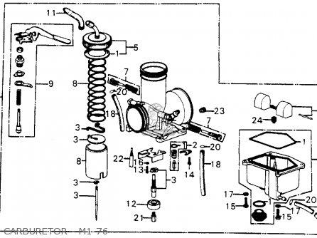 Honda Cr250m Elsinore 1976 Usa Carburetor - M1-76