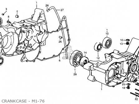 Honda Cr250m Elsinore 1976 Usa Crankcase - M1-76