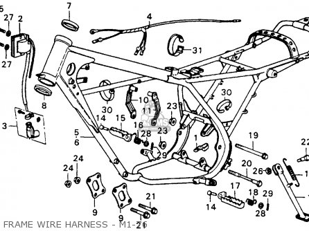 Honda Cr250m Elsinore 1976 Usa Frame Wire Harness - M1-76