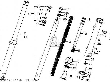 Honda Cr250m Elsinore 1976 Usa Front Fork - M1-76