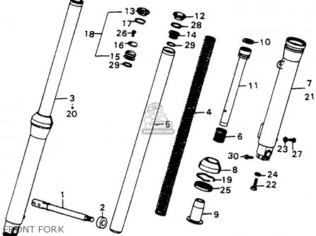Honda Cr250m Elsinore 1976 Usa Front Fork