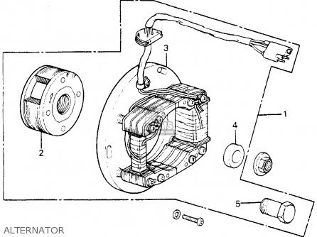 Honda Cr250m Elsinore K0 1973 Usa Alternator
