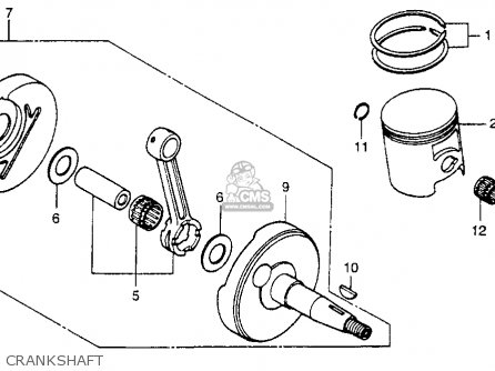 Honda Cr250r 1986 Usa Crankshaft