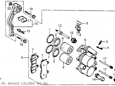 Honda Cr250r 1986 Usa Fr  Brake Caliper 84-86