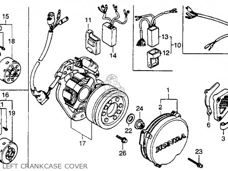 Honda Cr250r 1986 Usa Left Crankcase Cover