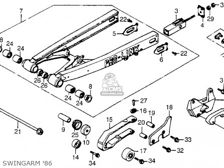 Honda Cr250r 1986 Usa Swingarm 86