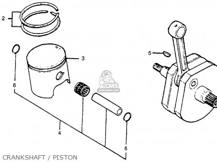 Honda Cr250r Elsinore 1978 Usa Crankshaft   Piston