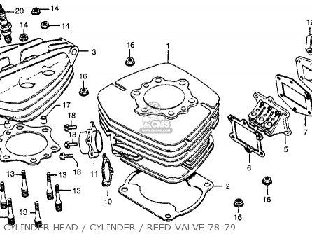 Honda Cr250r Elsinore 1978 Usa Cylinder Head   Cylinder   Reed Valve 78-79