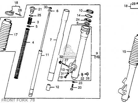 Honda Cr250r Elsinore 1978 Usa Front Fork 78