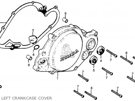 Honda Cr250r Elsinore 1978 Usa Left Crankcase Cover