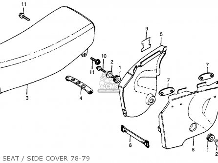 Honda Cr250r Elsinore 1978 Usa Seat   Side Cover 78-79