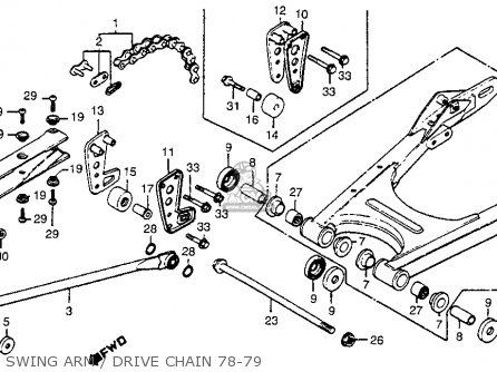 Honda Cr R Elsinore Z Usa Swing Armdrive Chain Mediumhu F A A A on Honda Cr250r Wiring Diagram