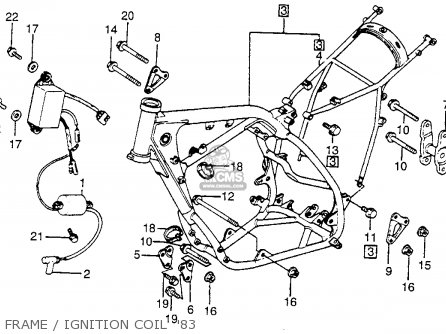 honda cr250r elsinore 1983 (d) usa parts lists and schematics honda cr250r wiring diagram